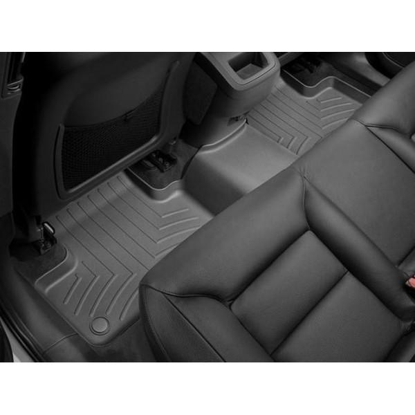 Задние коврики Renault Kadjar 2015-18 с бортиком, черные WeatherTech 449862